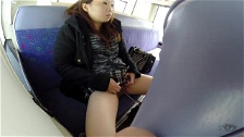 Asian Chick Pissing In Public Transport