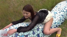 Horny Chicks Rubbing Their Pussies Outdoors
