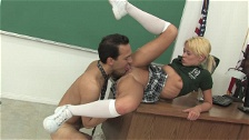 Hot Blondie Fucked In Classroom