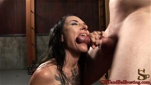 Cock and Ball Biting with Simone Kross
